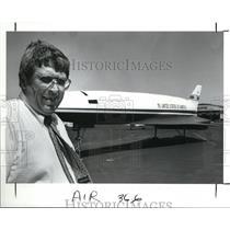 1989 Press Photo John Rohde ans 80 ft model experimental Plane
