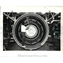 1989 Press Photo Airplane CF6-80C2 Engine
