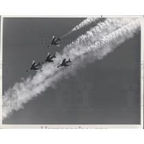 1970 Press Photo The Cleveland National Air Races with the Thunderbird