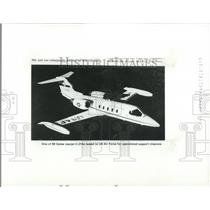 1986 Press Photo One of the eighty Gates Learjet C-21
