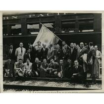1932 Press Photo Argentina's athletes arrive in L.A. for 1932 Olympics