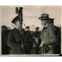 1919 Press Photo Sherbrock Canada Prince of Wales & honor guard
