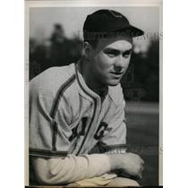 1940 Press Photo Pasadena Calif Bob Kennedy White Sox training camp - nes30936
