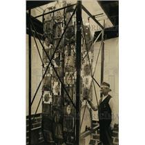 1923 Press Photo Rufus Ames & astill water motor
