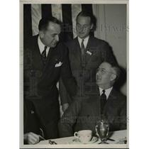 1938 Press Photo Col. J. Carroll Cone, Richard DuPont, Glenn Martin in Cleveland