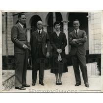 1932 Press Photo Antonio, Elle Ponvert, Mrs Ponvert & Francisco Terry Cubans
