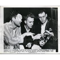 1949 Press Photo 3 Survivors Of The Capital Airlines Plane Crash