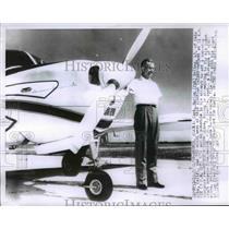 1958 Press Photo Capt. Marion Boling Aleutian Island