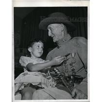 1959 Press Photo Harrison Holbrook Veteran Spanish American War & Marianne Ward