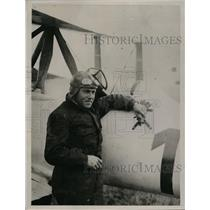 1921 Press Photo French pilot George Kirsch claims altitude record
