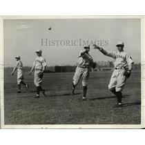 1928 Press Photo Cambridge Mass Harvard baseball Bill Jones,John Chase
