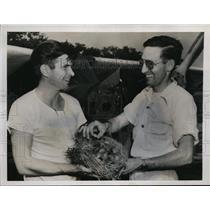 1949 Press Photo Richmond Va James Worsham, Jimmy Harris & nest & bird eggs