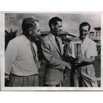 1937 Press Photo Paul Waner of Pirates, A Riley Trumbi & Ned Everhart