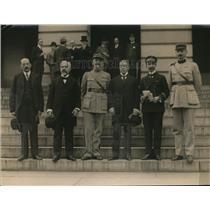 1920 Press Photo Louie Poulaine, Emile Broin, Gen. Ferrie Ptienne Lanel