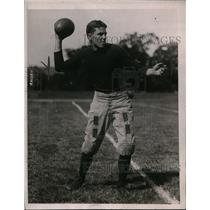 1921 Press Photo Yale University's Mac Aldrich, All-American halfback