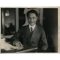 1924 Press Photo Hon Manual Bexas Speaker of Philippine House