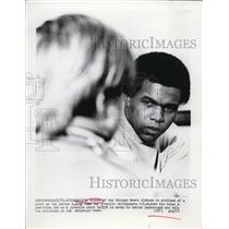 1972 Press Photo Chicago Gale Sayers Bears at AJ Audy home for juveniles