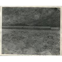 1924 Press Photo A passenger train  on Mexican Vera Cruz lines
