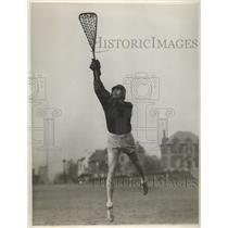 1930 Press Photo Captain Eibe Deck of la crosse team at Stevens Institute