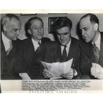 1943 Wire Photo Four senators who are sponsoring a resolution calling for