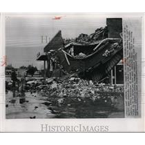 1957 Wire Photo The Port Arthur Lies Toppled as Hurricane Audrey Strikes Land