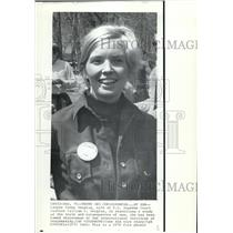 1973 Wire Photo Lawyer Cathy Douglas, wife of U.S. Supreme Court Justice