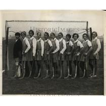 1928 Press Photo American Women's Field Hockey Team looses to England