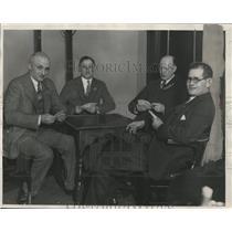 1928 Press Photo Excelsior Club Team for Bridge Play
