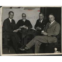 1928 Press Photo Four Bridge Players.