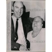 1964 Press Photo Warriors coach Alex Hannum & Celtics coach Red Auerbach