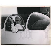 1963 Press Photo Barry Goldwater in a jet plane - cva98953
