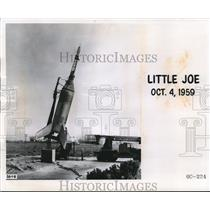 1961 Press Photo Little Joe the rocket at test of the Project Mercury capsule.