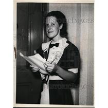 1936 Press Photo Miss Maida Putnam of Malden Massachusetts - nee59551