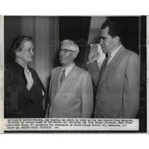 1926 Press Photo Nebraska Senator Eva Bowring, Richard M. Nixon, Hugh Butler