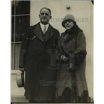1925 Press Photo Honorable & Mrs William Morrow of Australia & at White House