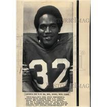 1973 Press Photo Buffalo Bills Running Back O.J. Simpson - cvs03597