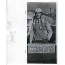 1956 Wire Photo Herman Salmon, chief test pilot for Lockhead Aircraft - cvw06452