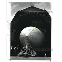"""1987 Press Photo Goodyear launches the biggest blimp ever, called the """"City of"""