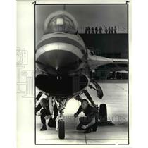 1985 Press Photo The crew members of the Thunderbirds at Hopkins - cva80578