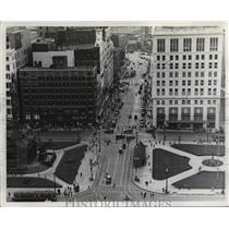 1922 Press Photo Cleveland Public Square - cva89982