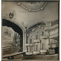 1914 Press Photo The Proscenium Boxes and arch of the Miles Theater - cva87064