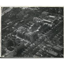 1920 Press Photo Airview of Cleveland showing Lakeside Hospital. - cva83491