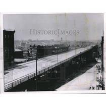 1910 Press Photo Superior Ave Viaduct, view looking west - cva82620