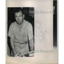 1949 Press Photo Earl Ortman race pilot of Lil Rebel owned by Bob Hopkins