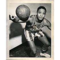 1953 Press Photo Jackson Winters of the Harlem Globetrotters