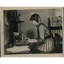 1917 Press Photo Elizabeth Asquithe Daughter of Former British Premier