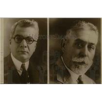 1926 Press Photo General Gerardo Machado Candidate for Pres & Carlos De La Rosa