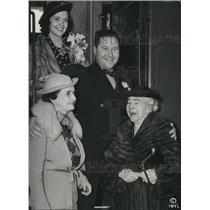 1936 Press Photo Jack Oakie Venita Varden Mrs Charles Kemper Evelyn Offield