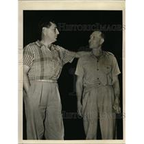 1941 Press Photo J.S. Morris and Don Johnston both Eastern Air Pilots