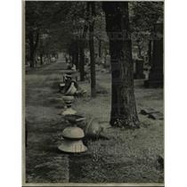 1947 Press Photo Woodland Cemetery - cva83954